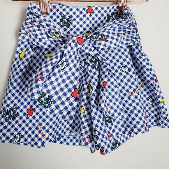 ZARA Girls Gingham Shorts a3b72c8cf5b